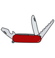 red pocket knife vector image
