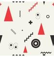 Seamless geometric pattern retro style vector image
