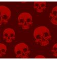 Seamless horror red skull tattoo pattern vector image vector image