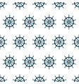 seamless pattern with steering wheel ship vector image