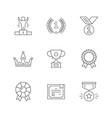set line icons award vector image