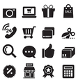 Silhouette Shopping online icons set vector image vector image
