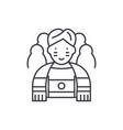 sportsman line icon concept sportsman vector image