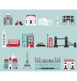 symbols famous cities vector image vector image