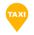 taxi location icon flat isolated vector image