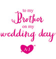 Thank You Card on my Wedding day vector image