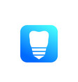 tooth dental implant icon sign vector image vector image