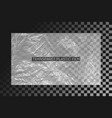 transparent polyethylene film crumpled plastic vector image