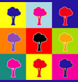 Tree sign pop-art style