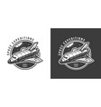 vintage monochrome space emblem vector image vector image