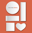 web buttons for design vector image vector image