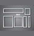 white frames banners set plates with a vector image vector image