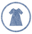 woman dress rounded fabric textured icon vector image vector image