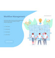 workflow management banner design template vector image