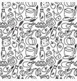 organic food doodle style seamless pattern vector image