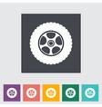 Icon car wheel vector image