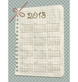 2013 scrapbook calendar vector image