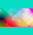 abstract geometric shapes colorful background vector image
