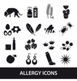 allergy and allergens black icons set eps10 vector image vector image