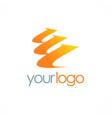arrow loop level logo vector image vector image