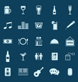 bar color icons on blue background vector image
