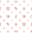 beverage icons pattern seamless white background vector image vector image