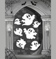 black and white alcove and ghosts 1 vector image vector image
