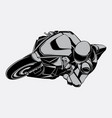 black and white racing motorbike vector image vector image