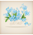 Blue Spring Flowers Forget-me-not Greeting Card vector image vector image