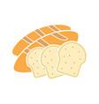 bread glyph color icon vector image vector image