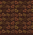 butterfly love hand drawn pattern with brown color vector image vector image