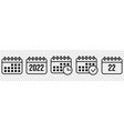 calendar icons line art style design icons vector image
