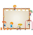 children on empty board vector image vector image
