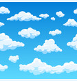 cloud seamless background endless cartoon vector image vector image