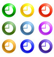 Coin stack icons set