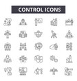 control line icons for web and mobile design vector image vector image