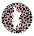 covid19 virus hole circle phuket map mosaic vector image vector image