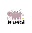 cute a funny dinosaur vector image vector image