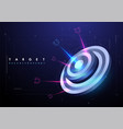 darts target in futuristic style success business vector image vector image