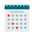 desk calendar icon flat isolated vector image