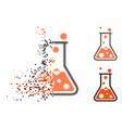dissolved pixel halftone boiling liquid icon vector image