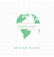 Earth Day Banner or Card Template vector image vector image