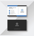 elegant business card with blue details vector image vector image