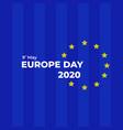 europe day 2020 celebration background vector image vector image
