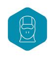 face balaclava icon outline style