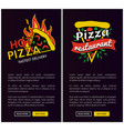 fast pizza delivery online promotional posters vector image
