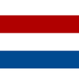 Flag of the Netherlands vector image