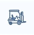 Forklift sketch icon vector image vector image