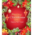 Greeting card with Christmas and New Year tree vector image vector image