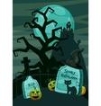 Halloween spooky cemetery concept cartoon style vector image vector image